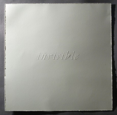Invisible--Hand-embossed paper
